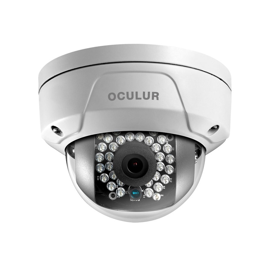 Oculur X2DF 2MP Mini Dome Fixed Outdoor IP Security Camera IR up to 100ft