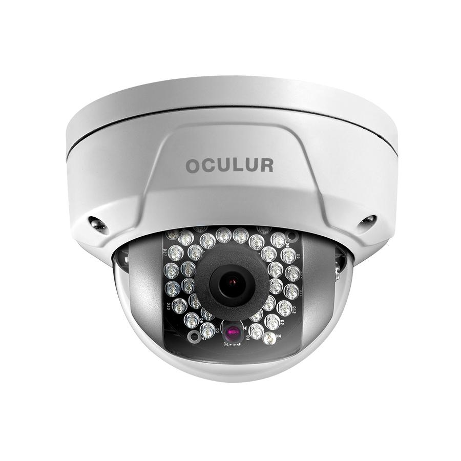 Oculur X2DFW 2MP Mini Dome Fixed IR Outdoor IP Security Camera – IR up to 100ft