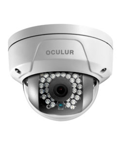 Oculur X4DF 4MP Mini Dome Fixed Outdoor IP Security Camera IR up to 100ft